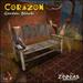 Zinnias Corazon Garden Bench