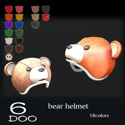 *6DOO*  Bear helmet