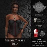 TSL - Leilah Corset {Red}