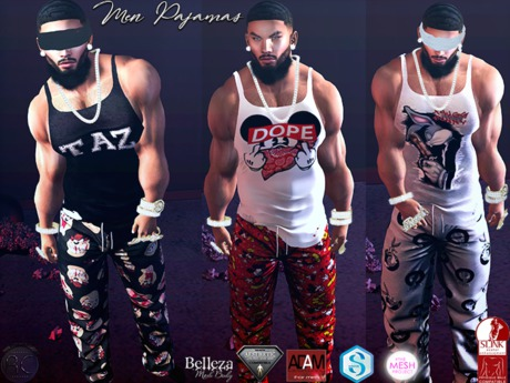 Second Life Marketplace Rc Men Pajamas