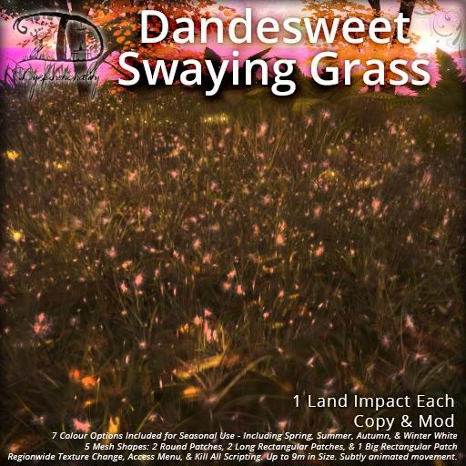 [DDD] Dandesweet Swaying Grasses - Animated, Tex. Change, Mesh Grass