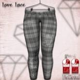 ::LL::  Ink Splattered Plaid Jeans {BOXED}