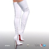 [Gos] Boutique - Ariana Thigh High Boots - White