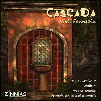 Zinnias Cascada Wall Fountain