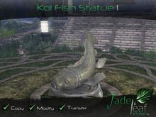 Koi Fish Statue I - Full Permissions