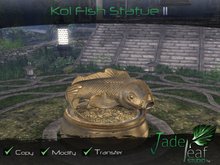 Koi Fish Statue II - Full Permissions