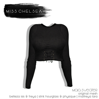 .miss chelsea. Maia Sweater Charcoal
