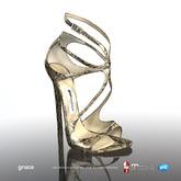 [Gos] Boutique - Grace Sandals - Gold Snake