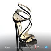 [Gos] Boutique - Grace Sandals - Black Patent