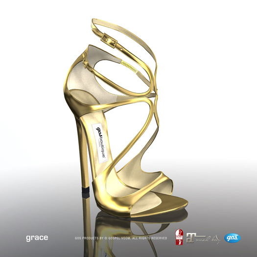 [Gos] Boutique - Grace Sandals - Gold