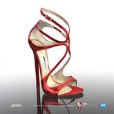 [Gos] Boutique - Grace Sandals - Red Patent