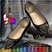 {AS} Flourish Mesh Flat Slippers: 12 Dark colors; Fat Pack @ 30% Discount; Omega sock applier; Unrigged; Resize Scripted