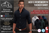{COLD-ASH} Mens MESH HEMSWORTH Tucked Shirt (DOTTED PACK)