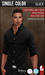 {COLD-ASH} Mens MESH HEMSWORTH Tucked Shirt (SingleColor-BLACK)