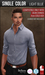 {COLD-ASH} Mens MESH HEMSWORTH Tucked Shirt(SingleColor-LTBLUE)