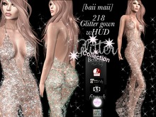baii maii 218 Glitter gown wHUD Dress Mesh Maitreya Gown Cocktail Slink Belleza TMP Womans Apparel Clothes