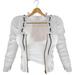 adorsy - Kristy Leather Jacket with Shirt White - Maitreya