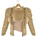 adorsy - Kristy Leather Jacket with Shirt Beige - Maitreya