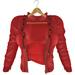 adorsy - Kristy Leather Jacket with Shirt Red - Maitreya