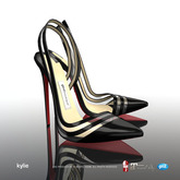 [Gos] Boutique - Kylie Slingbacks - Black