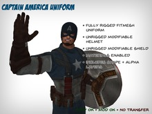 Fitmesh Captain America Uniform & Shield