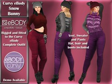 eBody Curvy - Snow Bunny Complete Outfit