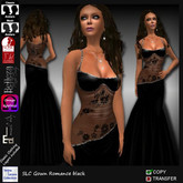 SLC Gown Romance black *NOW WITH APPLIERS*