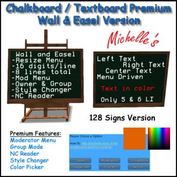 Chalkboard / Textboard Premium (128 Signs)