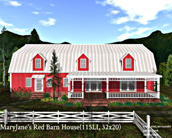 MaryJane's Red Barn House(115LI, 32x20)
