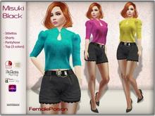 !FP! Misuki Black Complete Outfit - Belleza Isis Freya Venus Maitreya Slink Hourglass Physique TMP Omega