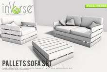 inVerse® MESH - Pallets sofa set  full permission