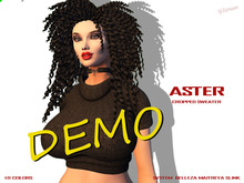 [F] DEMO - Aster Cropped Sweater - Fitmesh - Fatpack