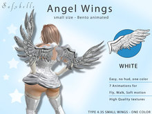 @Safybelle Angel Wings 4.3 small  - WHITE - Bento 7 Animations, Walk and Fly animation