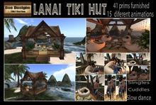 PROMO 40% OFF! Lanai Tiki Hut - tiki Gazebo -  with 15 animations