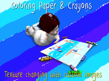 Paper & Crayons - Texture change / Sit Pose