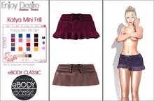 Katya Mini Frill Skirt - eBODY CLASSIC