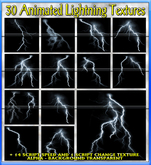 30 ANIMATED LIGHTNING TEXTURES (ALPHA) / ANIMATED TEXTURES / LIGHTNING FLASH TEXTURES