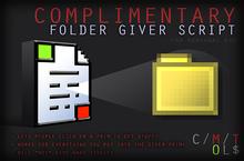 [ContraptioN] Workshop: Folder Giver Script