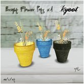 Kyoot Home - Bright Flower Pots I