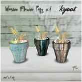 Kyoot Home - Wooden Flower Pots I