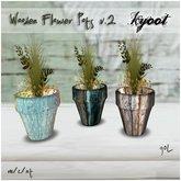 Kyoot Home - Wooden Flower Pots II
