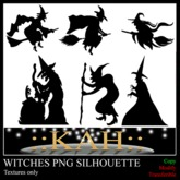 6 Witch Png Silhouette  ONLY TEXTURE