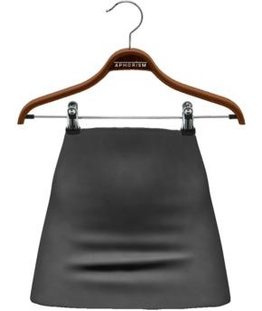 !APHORISM! Ashley Suede Skirt - Slate