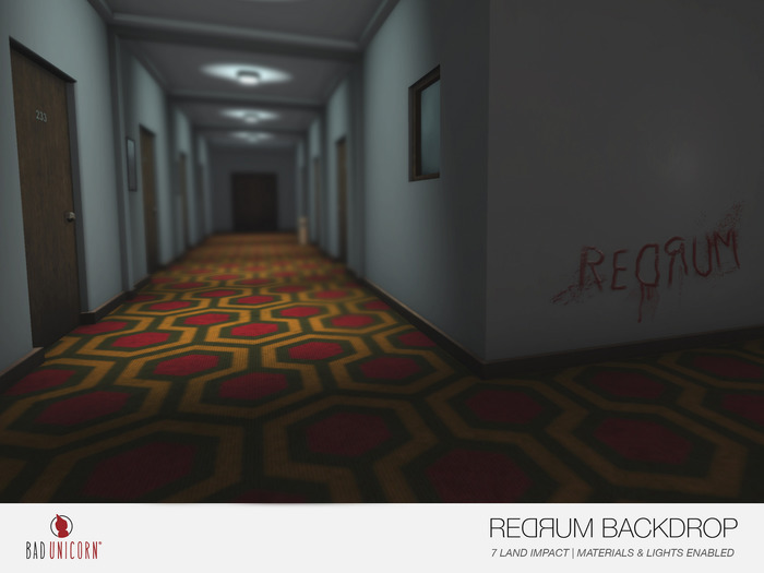 Redrum Backdrop (Materials & Lights Enabled)