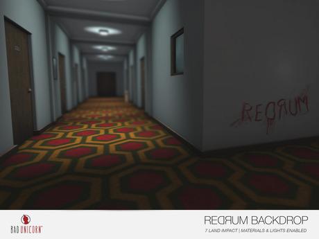 [Bad Unicorn] Redrum Backdrop (WEAR TO UNBOX!!)