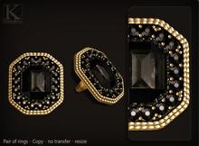 (Kunglers) Celine ring - onyx