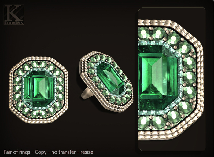 (Kunglers) Celine ring - emerald