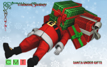 [MF] Funny santa claus under christmas gifts pile (boxed)