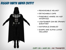 Darth Vader Outfit with Lightsaber