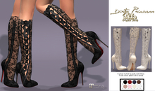 -*Dirty Princess* Mademoiselle Couture Princess Boots w/Hud